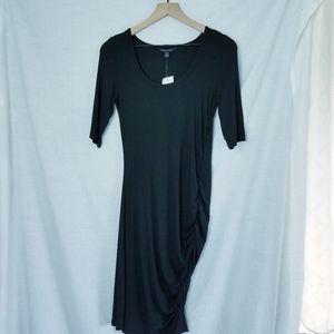 Banana Republic Ruched Bodycon Dress Black Small